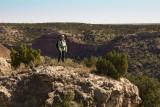 Carol at top of Palo Duro Canyon