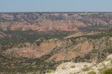 Palo Duro canyon from rim
