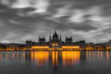 clouds above Parliament, Budapest