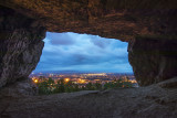 cave above the city
