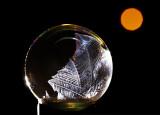 freezing soap bubble