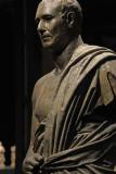 Bronze statue of man