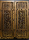 Istanbul Turkish and Islamic arts museum Wooden window shutters Konya early 14th C june 2019 2280.jpg