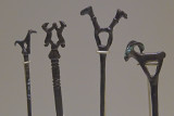 Gaziantep Archaeology museum Animal figurines on metal spikes sept 2019 4253.jpg