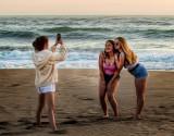 On the Santa Cruz Beach
