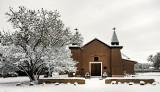 Old San Ysidro Church, Snowed In