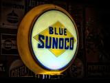 Blue Sunoco Sign