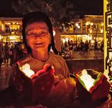 Woman Selling Paper Lanterns