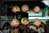 Masks in the Window of the Hanoia Gift & Coffee Shop