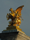 Golden Sculpture on The Alexander III bridge