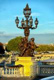 Ornate Light Fixtures on The Alexander III bridge