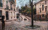 Racing Down Montmartre's Place Dalida