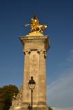 Column on Alexander III Bridge