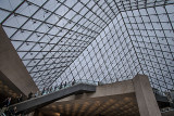 Pyramid Interior View from the Louvre Lower Level