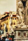 Sculptures on the Palazzo Vecchio