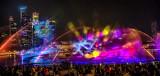 Water & Laser Light Show at Marina Bay