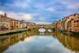 Arno River & Ponte Vecchio Bridge