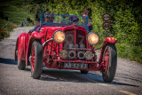 1939 Aston Martin 2 Litre Speed Model at the Mille Miglia Race/Rally