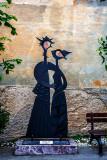 Sculpture by Renzo Bighetti, L'abbraccio (The Hug or Embrace)
