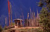 Prayer Flags High in a Himalayan Pass