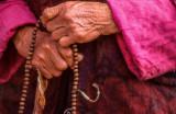 Wooden Rosary in Nun's Hands