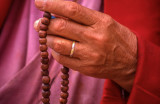 Buddhist Monk's Wooden Rosary