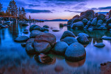 Lake Tahoe After Sunset - l'heure bleue turbo-charged!