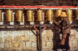 Spinning Prayer Wheels at the Potala
