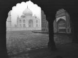 Taj Mahal seen through and Arch