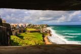 San Felipe del Morro, 'El Morro' Fort  - From Inside WWII Bunker