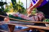 Prepping the Pork For The Evening Luau