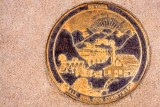 Brass Plaque imbedded in concrete