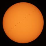 Solar transit of the International Space Station