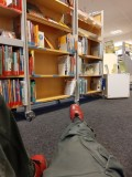 Hanging out at the local library