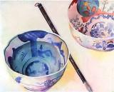 Chinese Bowls and Brush