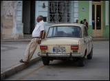 Man with Moskvitch - Camagüey