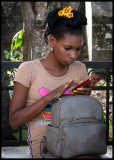 Busy with cellphone.....Camagüey