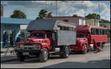 Trucks converted for passenger transport