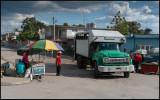 Truck converted for passenger transport