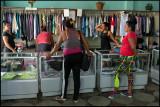 Inside a women clothing shop