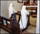 Prayer inside the Basilica