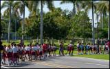 Schoolchildren visiting Santa Ifigenia