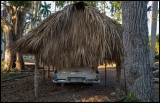 Pontiac under roof......