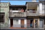 Man on balcony in Santa Clara