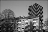 Hovsberg (Växjö) old and new architecture