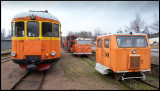 Trains and engines at Virserum (891 mm)