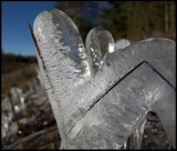 Ice formation after a very cold night near Nybro