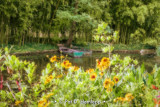 Boats in garden