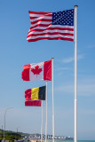 Flags at Omaha Beach