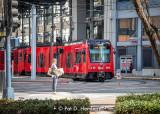 Trolley in town
